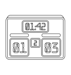 Board with a score of footballfans single icon in vector