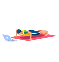 boy active concept wellness stretching vector image