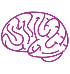 brain sign in world alzheimers day theme isolated vector image