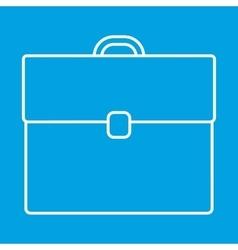 Briefcase thin line icon vector