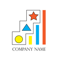 businessman career development with star on vector image