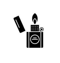 cigarette lighter black icon sign on vector image