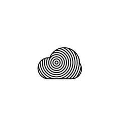 cloud security logo icon vector image
