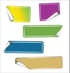 collection of colorful labels with rounded corners vector image