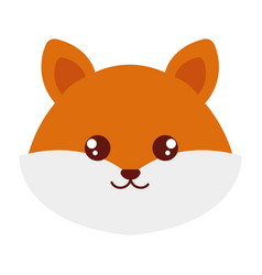 cute and tender fox head character vector image