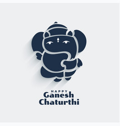 Cute lord ganesha design for ganesh chaturthi vector