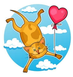Cute valentine cat vector
