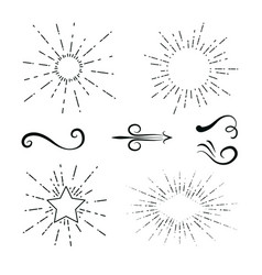 Decorative swirls hand draw vector