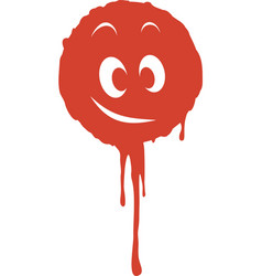 Dirt blood face vector image