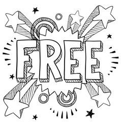 Doodle pop free vector
