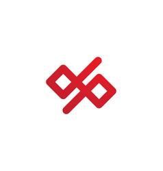 Dp letter infinity logo vector