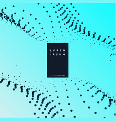 Elegant particles wavy background design vector