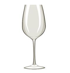 Empty wine glass vector