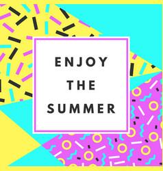 Enjoy the summer banner vector