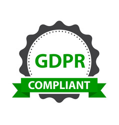 european gdpr ready badge template vector image