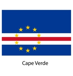 Flag of the country cape verde vector image