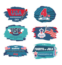 Fourth of july usa happy independence day posters vector