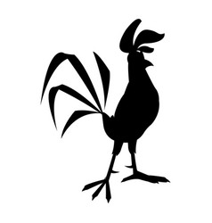 Funny cartoon cock comic rooster character vector