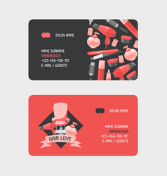 hairdresser tools business-card vector image