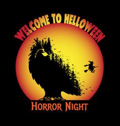 Halloween t-shirt design horror night vector