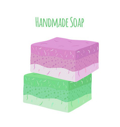 handmade aroma soap natural hygiene product vector image