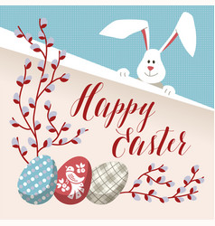 Happy easter - modern card vector