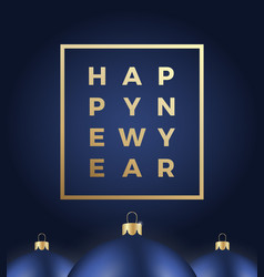 happy new year abstract greeting card or vector image