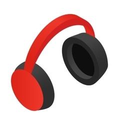 Headphone isometric 3d icon vector
