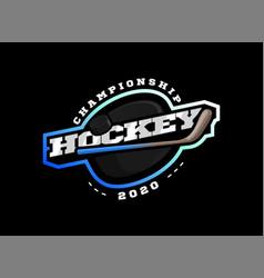 hockey sport logo modern professional sporty vector image