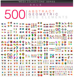 huge mega set of 500 business paper origami style vector image