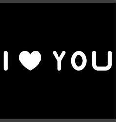i love you the white color icon vector image