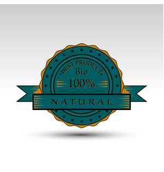 isolated badge vector image