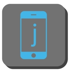 J Phone Rounded Square Button vector