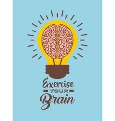 Light bulb with brain icon vector