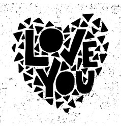 love you hand lettering vector image