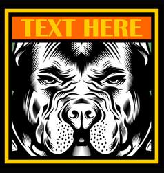 Mean bulldog mascot vector