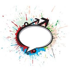 messenger window grunge icon vector image