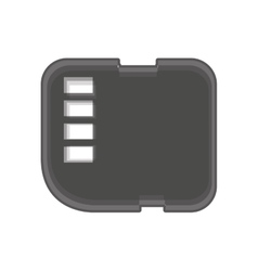 Micro sd card isolated icon vector