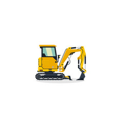 Mini excavator commercial vehicles construction vector