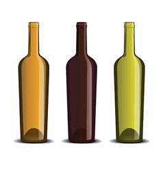 Mock up wine bottle vector