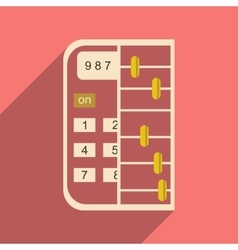 Modern flat icon with shadow abacus vector