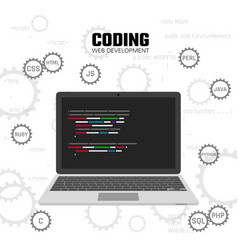 modern languages web programming web development vector image