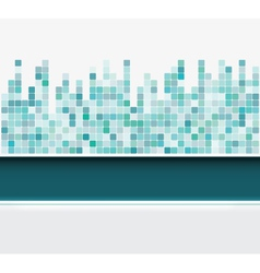 Mosaic square background vector