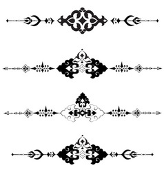 Ottoman motifs design series with thirty vector