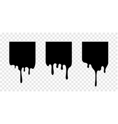 paint drip stickers square labels vector image