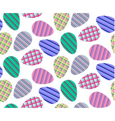 Pattern striped eggs2 vector