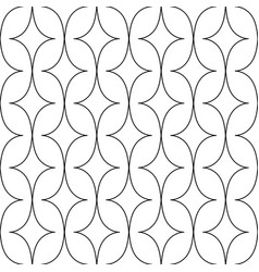 Pattern with curved rhombus vector