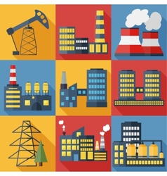 Plants and factories vector