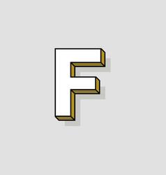 pop art logo letter f vector image