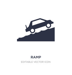 Ramp icon on white background simple element from vector